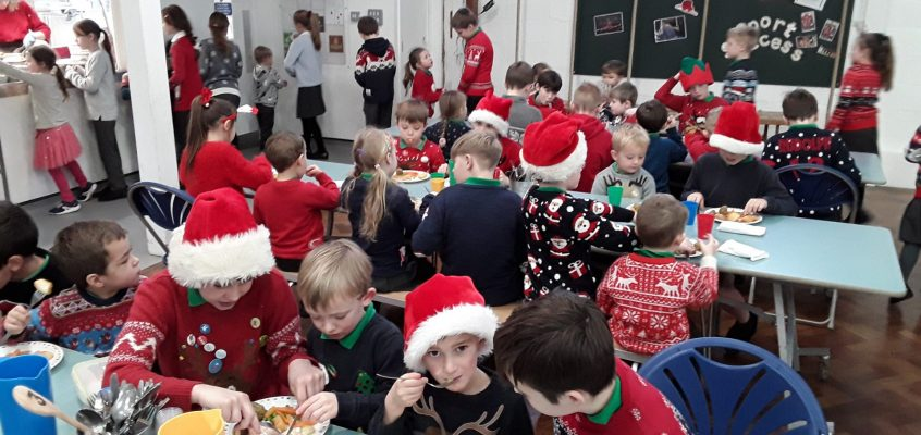 Christmas Lunch with Christmas jumpers!